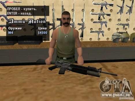 M16 avec un M203 pour GTA San Andreas