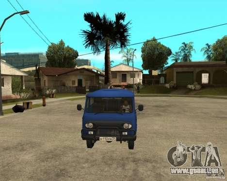 UAZ 39094 für GTA San Andreas Rückansicht