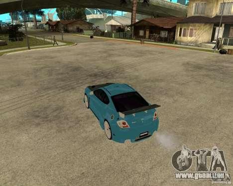 Hyundai Tibuton V6 GT pour GTA San Andreas sur la vue arrière gauche