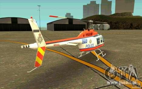 Bell 206 B Police texture2 pour GTA San Andreas vue de droite