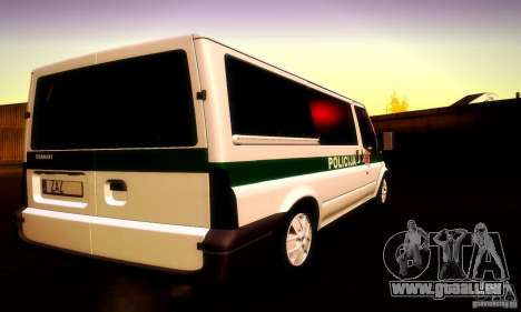 Ford Transit Policija für GTA San Andreas Innenansicht