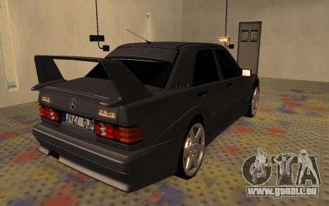 Mercedes-Benz 190E Evolution II 2.5 1990 pour GTA San Andreas sur la vue arrière gauche