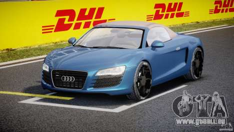 Audi R8 Spyder v2 2010 pour GTA 4 Vue arrière