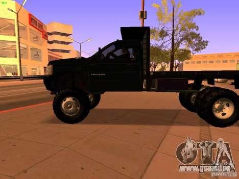 Chevrolet Silverado HD 3500 2012 pour GTA San Andreas vue de dessus