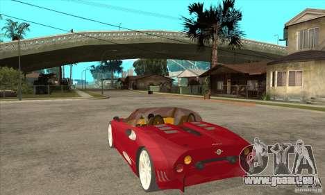 Spyker C8 Spyder pour GTA San Andreas sur la vue arrière gauche