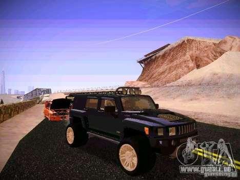 Hummer H3R pour GTA San Andreas vue arrière