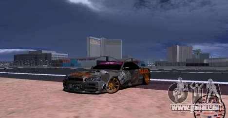 Nissan Skyline GTR34 MAXXIS für GTA San Andreas