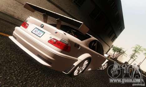 BMW M3 GTR v2.0 pour GTA San Andreas laissé vue