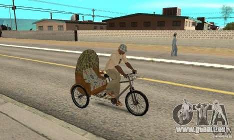 Manual Rickshaw v2 Skin2 für GTA San Andreas rechten Ansicht