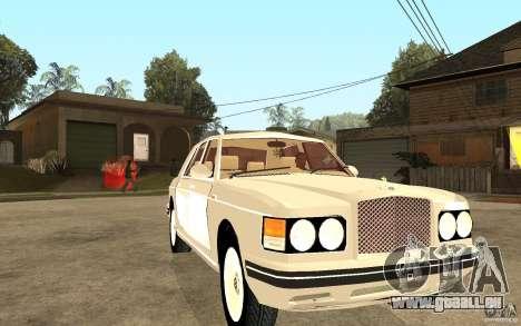 Bentley Turbo RT pour GTA San Andreas vue arrière