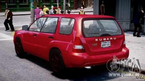Subaru Forester v2.0 pour GTA 4 est un droit