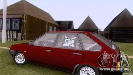 VAZ 2109 vidange finale pour GTA San Andreas vue intérieure