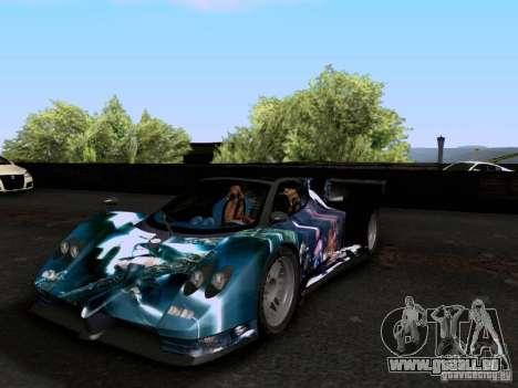 Pagani Zonda EX-R für GTA San Andreas Seitenansicht
