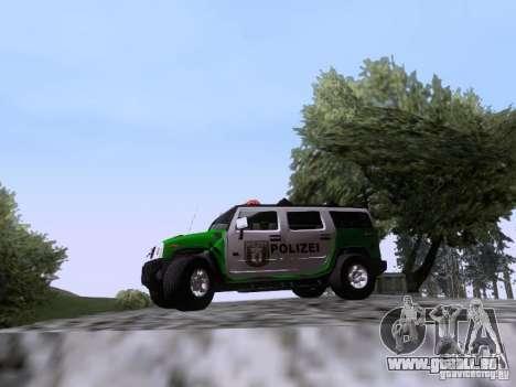 Hummer H2 Polizei pour GTA San Andreas laissé vue