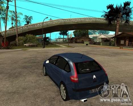 Citroen C4 SX 1.6 HDi für GTA San Andreas zurück linke Ansicht