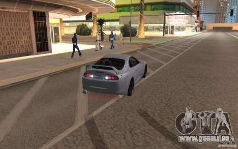 Toyota Supra Mark IV pour GTA San Andreas sur la vue arrière gauche