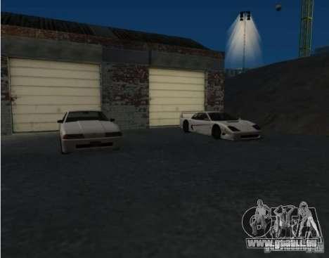 Armes et voitures partout sur la carte pour GTA San Andreas deuxième écran