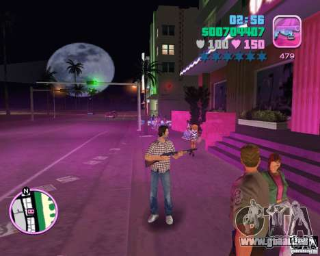 Chemise à carreaux et jeans GTA Vice City pour la troisième écran