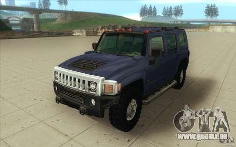 Hummer H3 pour GTA San Andreas vue arrière
