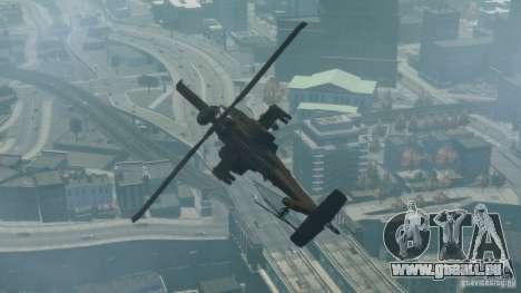 AH-64D Longbow Apache v1.0 für GTA 4 hinten links Ansicht