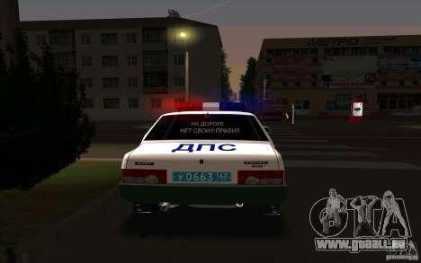 VAZ 21099, Polizei für GTA San Andreas zurück linke Ansicht