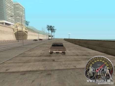 Compteur de vitesse Lamborghini pour GTA San Andreas quatrième écran
