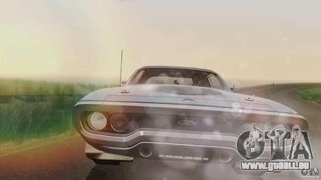 Plymouth GTX 426 HEMI 1971 für GTA San Andreas Innenansicht