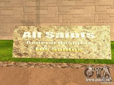 Neue Krankenhaus-Krankenhauses für GTA San Andreas sechsten Screenshot