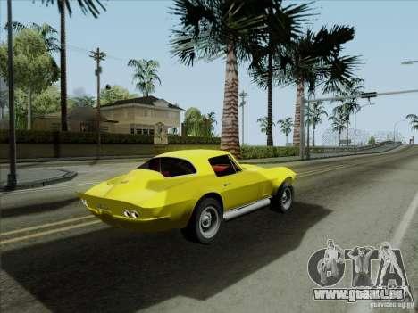 Chevrolet Corvette 1967 für GTA San Andreas Seitenansicht