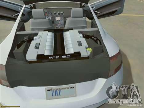 Audi TT Custom für GTA San Andreas Innenansicht