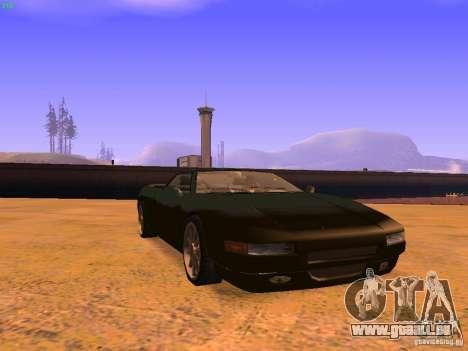 Infernus Revolution pour GTA San Andreas vue de dessous