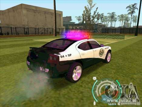 Dodge Charger Policia Civil from Fast Five für GTA San Andreas zurück linke Ansicht