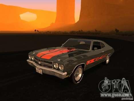 Chevrolet Chevelle SS 1970 v.2.0 pjp1 pour GTA San Andreas vue de côté