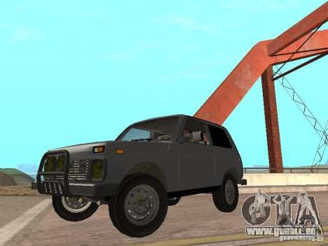VAZ 21214 Niva pour GTA San Andreas sur la vue arrière gauche