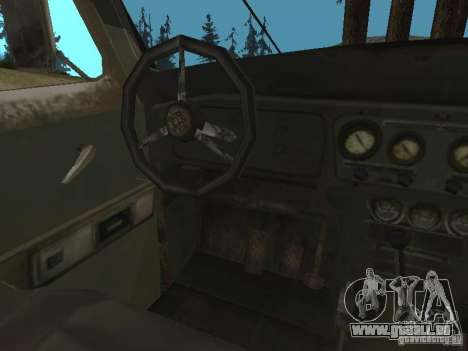 UAZ-31519 de COD MW2 pour GTA San Andreas vue arrière