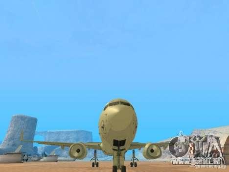 Boeing 737-800 Lufthansa für GTA San Andreas Rückansicht
