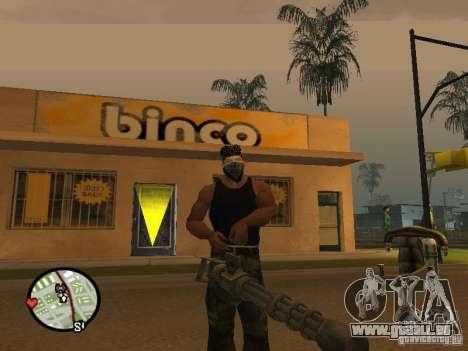 M134 Minigun aus CoD: Mw2 für GTA San Andreas zweiten Screenshot