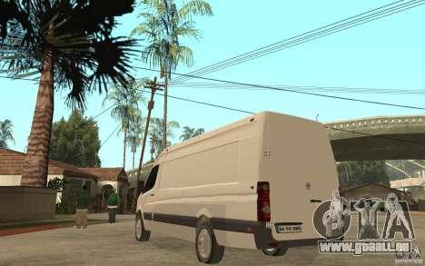 Volkswagen Crafter 2010 TDI pour GTA San Andreas sur la vue arrière gauche