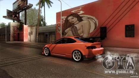 Acura RSX Spoon Sports pour GTA San Andreas laissé vue