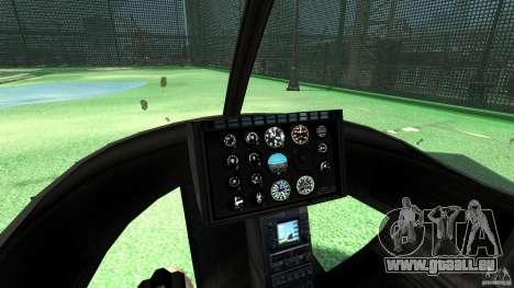 Black U.S. ARMY Helicopter v0.2 für GTA 4 Rückansicht