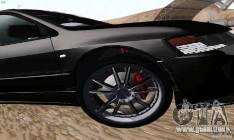 Mitsubishi Lancer EVO VIII BlackDevil für GTA San Andreas obere Ansicht