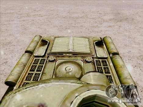 T-34 pour GTA San Andreas vue arrière