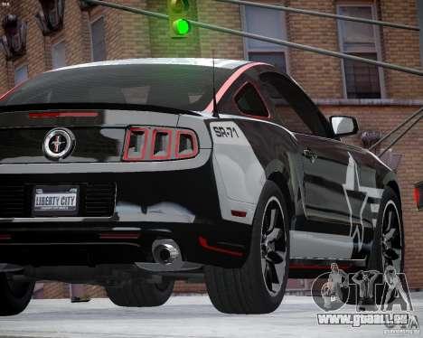 Ford Mustang Boss 302 pour GTA 4 est une vue de l'intérieur