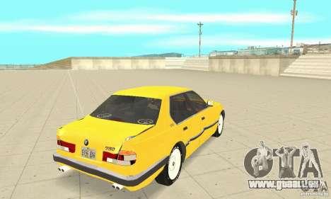 BMW 750I E32 für GTA San Andreas Seitenansicht