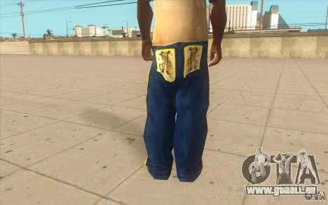 Karl Kan Puzzle Jeans pour GTA San Andreas troisième écran