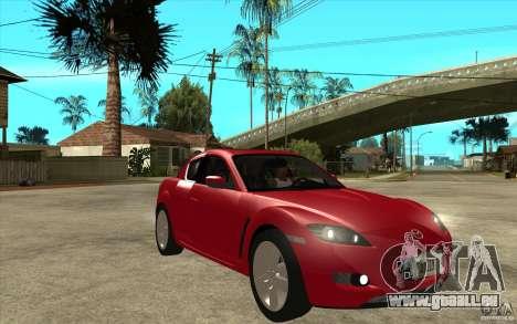 Mazda RX8 pour GTA San Andreas vue arrière