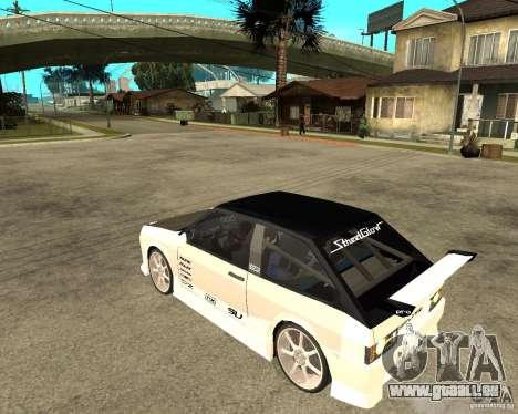 VAZ 2108 extrême pour GTA San Andreas laissé vue
