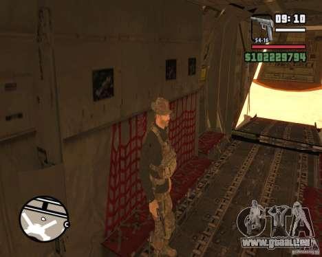 C-130 hercules für GTA San Andreas Unteransicht