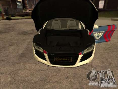Audi R8 Police Indonesia für GTA San Andreas rechten Ansicht
