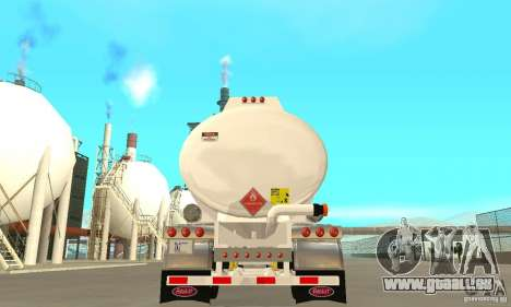 Peterbilt 379 Custom And Tanker Trailer pour GTA San Andreas vue de dessus
